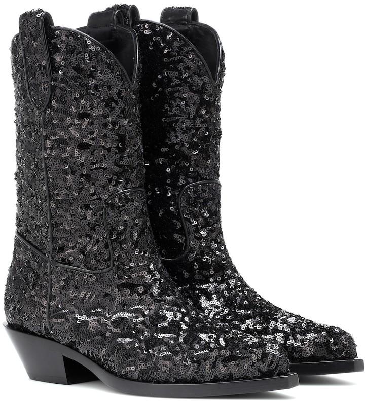8f64a7f67b9 Sequined cowboy boots
