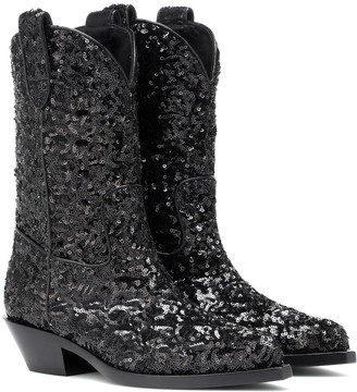 Dolce & Gabbana Sequined cowboy boots