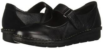 Clarks Michela Penny (Black Leather/Suede Combi) Women's Shoes