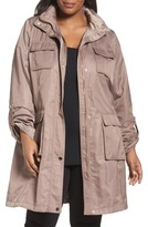 Tahari Plus Size Women's Monroe Utility Trench Coat