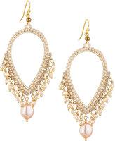 Nakamol Pearly Dangle Earrings, Pink/Cream