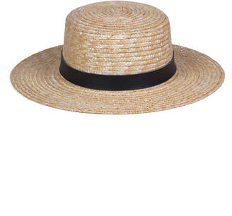LACK OF COLOR Spencer Leather Band Straw Hat