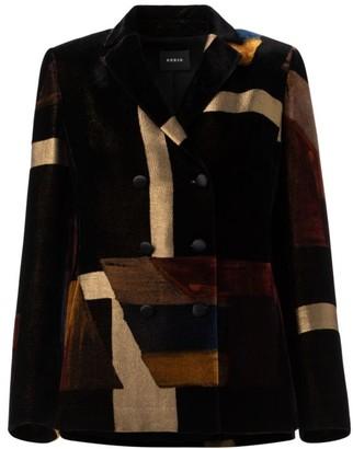 Akris Lena Double Breasted Velvet Jacket