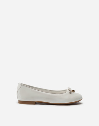 Dolce & Gabbana Patent Leather Ballerina Shoe With Bow