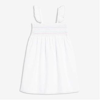 Joe Fresh Toddler Girls' Smocked Dress, White (Size 3)