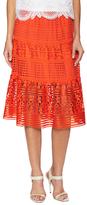 Diane von Furstenberg Tiana Lace A Line Skirt