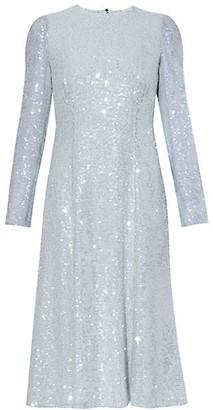 Erdem Open Back Sequin Shift Dress