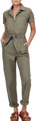 David Lerner Carson Collared Zip-Front Jumpsuit