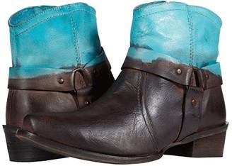 Roper Arizona (Tan Leather Vamp/Pink Dip-Dye Shaft) Cowboy Boots