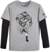 Under Armour Little Boys' Long-Sleeve Graphic T-Shirt