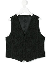 Dolce & Gabbana single breasted printed gilet - kids - Cotton/Polyester/Viscose - 8 yrs