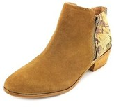 Yellow Box Acacia Round Toe Suede Ankle Boot.