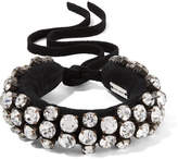 Isabel Marant Suede And Crystal Bracelet - Black