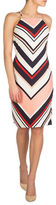 GUESS Chevron-Stripe Bodycon Dress