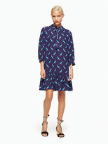 Kate Spade Peacock silk dress