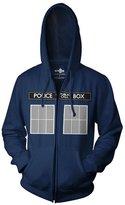 Ripple Junction Doctor Who Call Box Window Adult Zip Hoodie XL
