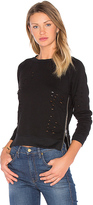 Central Park West Great Jones Distressed Sweater in Black. - size M/L (also in )