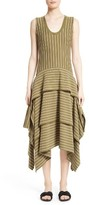 Opening Ceremony Women's Tiered Stripe Cotton Dress