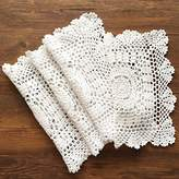 Gracebuy Pack of 4PCS White 11 Inch Square HANDMADE Crochet Lace Placemats Coasters