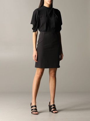 Blumarine Be Short Dress With Foulard Collar