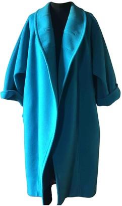 Gianfranco Ferre Turquoise Wool Coat for Women Vintage