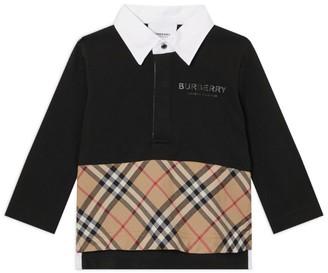 Burberry Kids Logo Nova Check Polo Shirt