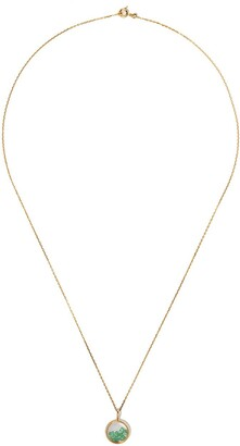 Aurélie Bidermann 18kt yellow gold emerald Chivor mini medallion necklace