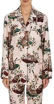 Dolce & Gabbana Women's Floral- & Cat-Print Silk Pajama Shirt