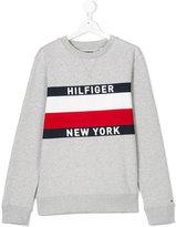 Tommy Hilfiger Junior printed logo sweatshirt