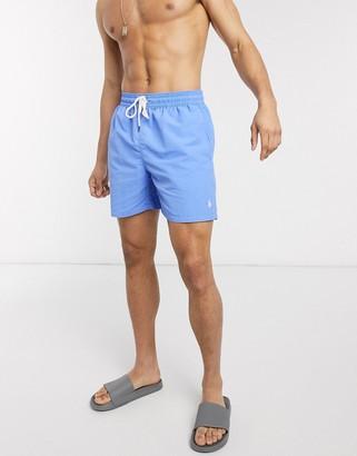 Polo Ralph Lauren Traveler player logo nylon swim shorts in harbor island blue