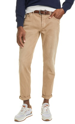 Brunello Cucinelli Over Dye Stretch Cotton Jeans