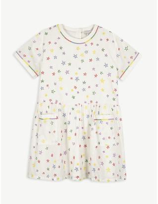Stella McCartney Embroidered stars cotton dress 4-16 years