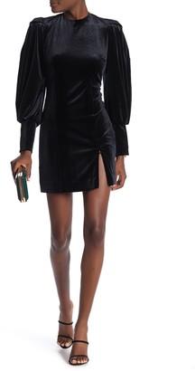 Rebecca Minkoff Gwen Puff Sleeve Velvet Mini Dress