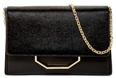 Louise et Cie Towa Croc Embossed Leather Clutch