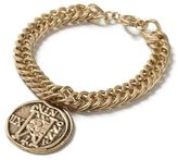 Topman Gold Look Chain Engraved Disk Bracelet*