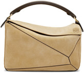 Loewe Tan Suede Puzzle Bag