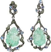Arunashi Carved Emerald Earrings