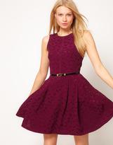 Oasis Dragon Fly Jacquard Dress