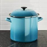 Crate & Barrel Le Creuset ® 10-Qt. Caribbean Blue Enamel Stock Pot with Lid