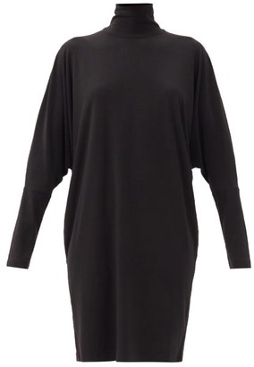 Norma Kamali Roll-neck Stretch-jersey Dress - Black