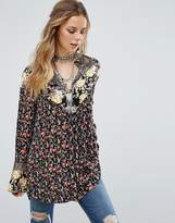 Free People Wildflowers Printed Tunic Blouse