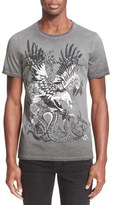 Just Cavalli 'Distressed Tattoo' Graphic T-Shirt