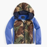 J.Crew Kids' colorblock camo water-resistant jacket