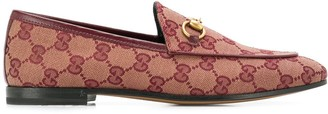 Gucci Jordaan GG canvas loafers