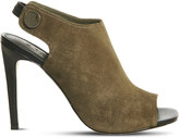 Office Napa suede peep-toe shoe boots