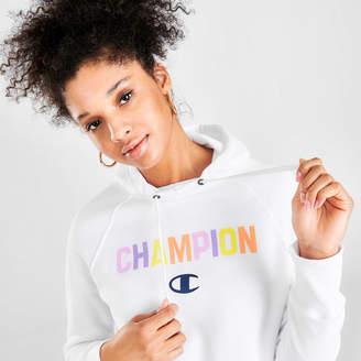 Champion Women's Powerblend Rainbow Hoodie
