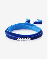 Express Blue Mini Teardrop Velvet Wrap Choker
