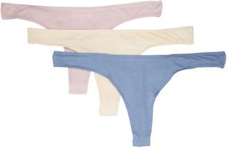 Skin Organic Cotton Thong 3-Pack