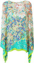 Etro mixed print long-line blouse