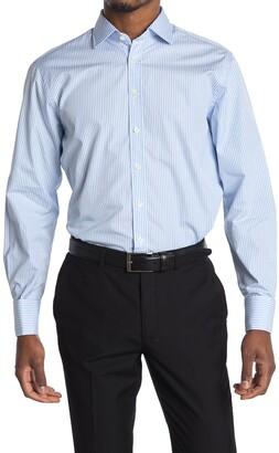 Thomas Pink Core Poplin Bengal Stripe Print Shirt